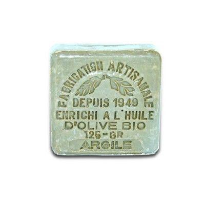 Savonnette argile enrichi à l'huile d'olive bio 125 gr Le Serail - artisanal