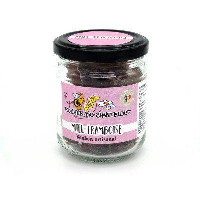 Homemade honey-raspberry candy Rucher du Chanteloup - artisanal