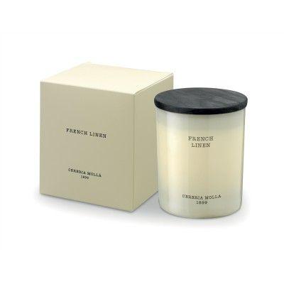 Candle French Linen premium 230gr - CERERIA MOLLA 1899 Cereria Molla 1899 - artisanal