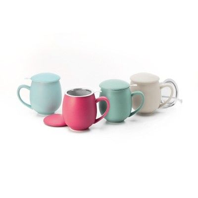 Pastel-colored 0.35 liter tea cup  - artisanal
