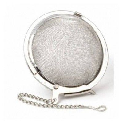 Tea filter - Metal ball - 7.5cm - XL  - artisanal