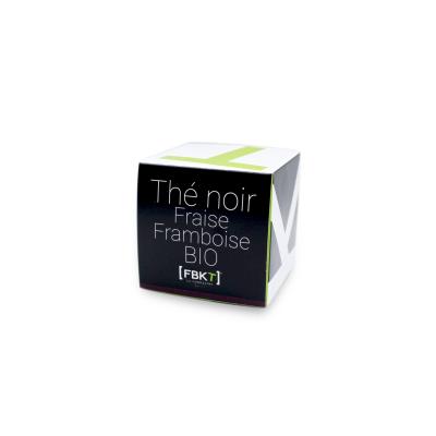 Pyramid Box - Organic Black Strawberry Raspberry Tea FBKT - artisanal
