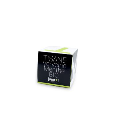 Boite Pyramide - Tisane Verveine Menthe Bio FBKT - artisanal