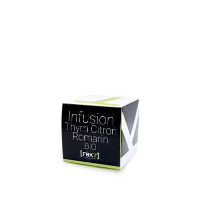Boite Pyramide - Infusion Thym Citron Romarin BIO FBKT - artisanal