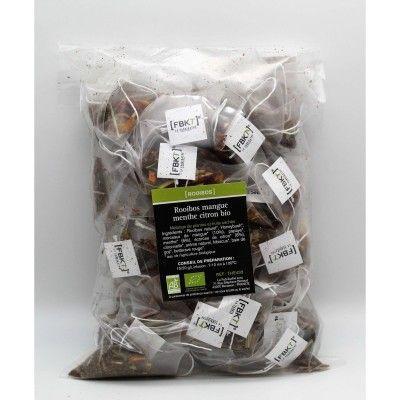 Recharge Bistrot Pyramide - Rooibos Mangue Menthe Citron Bio FBKT - artisanal