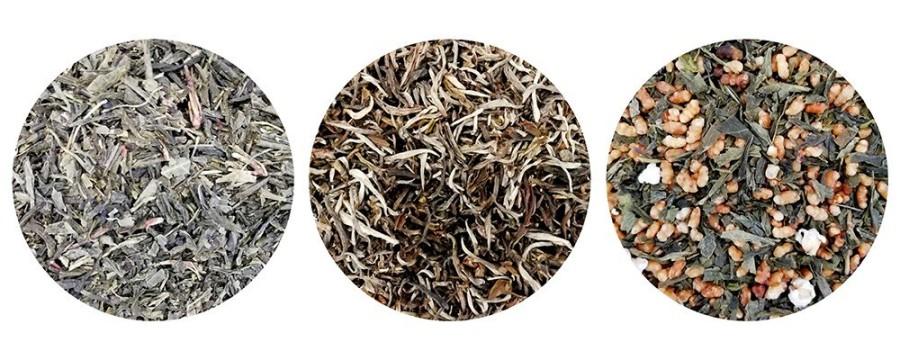 Thés verts & thés blancs assemblés